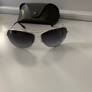 Authentic Ray-Ban Silver Wrap Aviator Sunglasses